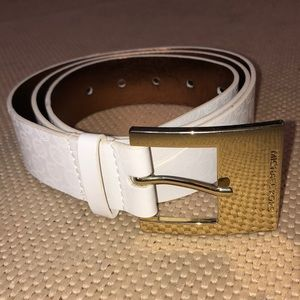 Michael Kors white belt